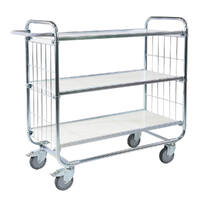 3 Tier Trolley (With Adjustable Shelves) 1195x470x1120mm